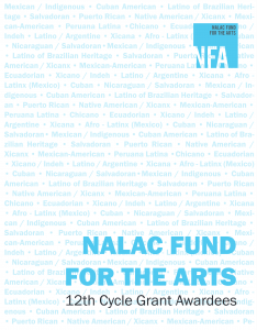 NFA 12th Cycle Grant Awardees Book Cover
