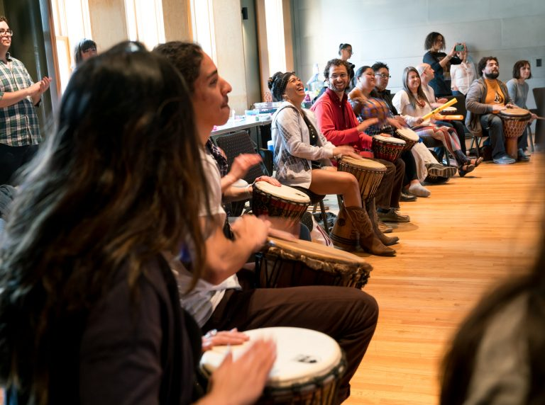 2018 ILI fellows participate in drum circle led by TBow Gonzalez